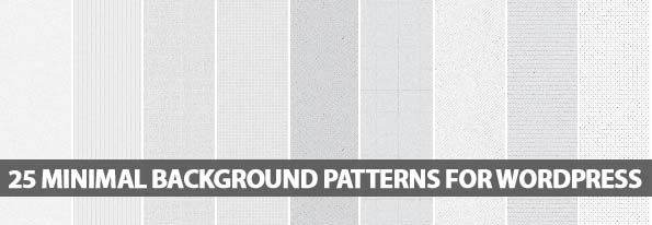 25 Minimal Background Patterns For WordPress