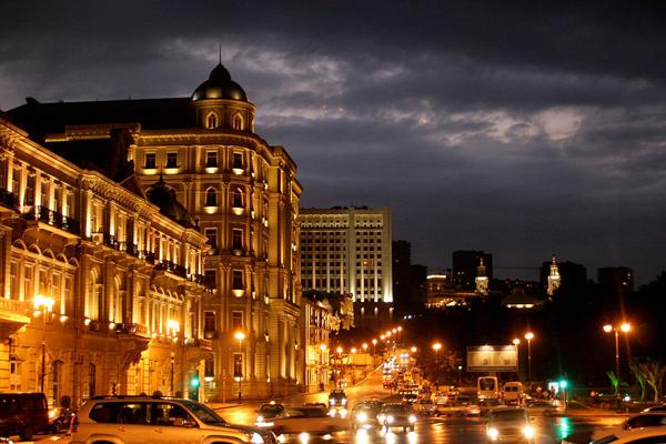 Baku at night (Azerbaijan)