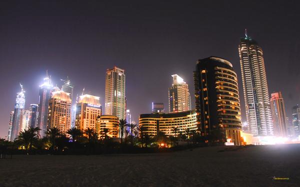 Dubai at night (United Arab Emirates)