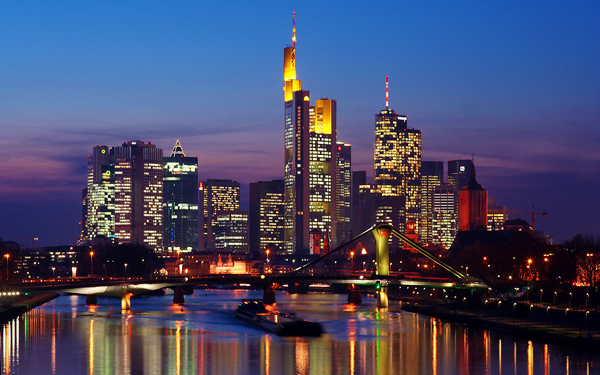 Frankfurt at night (Germany)