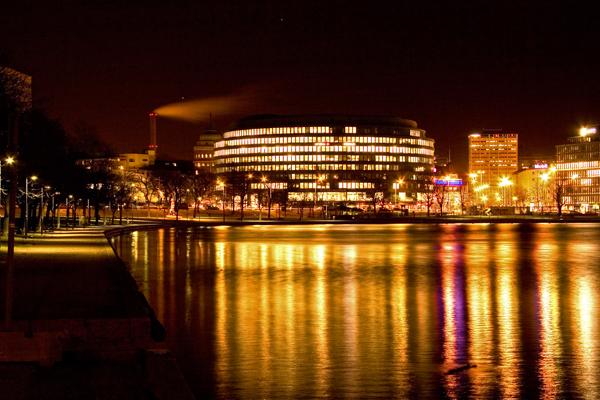 Helsinki at night (Finland)