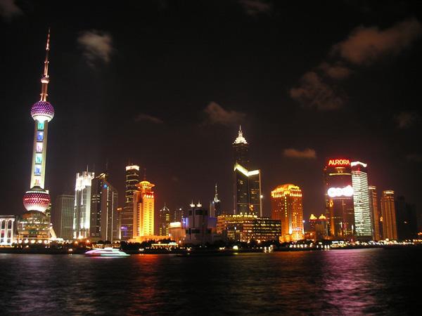 Shanghai at night (China)