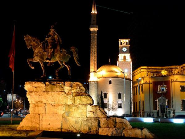 Tirana at night (Albania)
