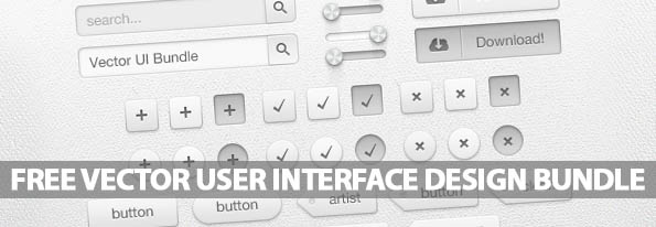 Free Vector User Interface Design Bundle