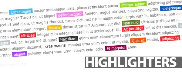 Highlighters shortcodes Plugin