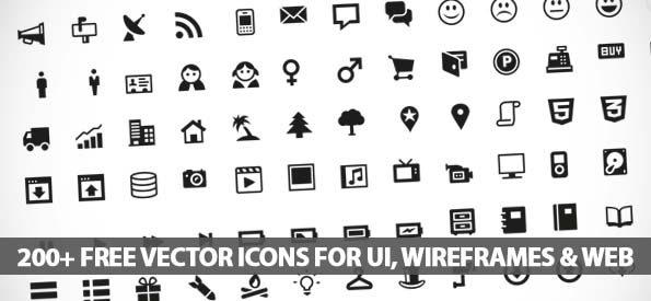 Free Vector Icons For UI, Wireframes and Web Design - Best Post Of 2012