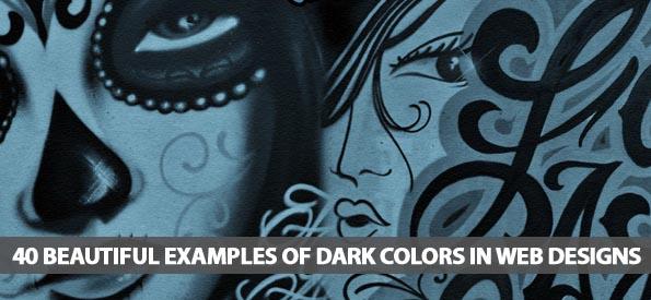 40 Beautiful Examples Of Dark Colors In Web Designs