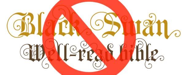 Do not use fancy fonts