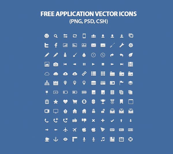 Free Application Vector Icons For Web Designers
