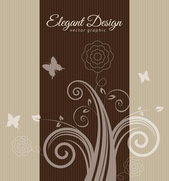 Elegant Brown Design Vector Graphic