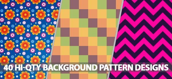 Background Pattern Designs: 40 Hi-Qty Pattern Designs For Web Background