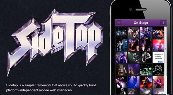 Lightweight Framework For Mobile Web Apps: Sidetap