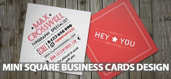 40 Mini Square Business Cards Design