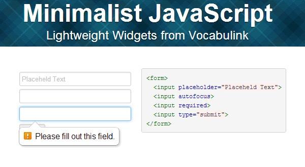 minjs: Lightweight JavaScript Components