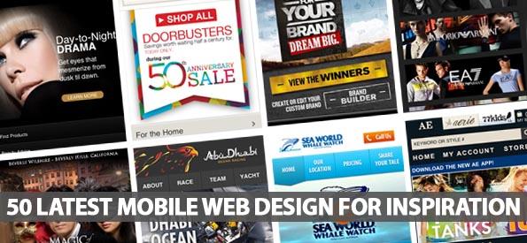 50 Latest Mobile Web Design For Inspiration