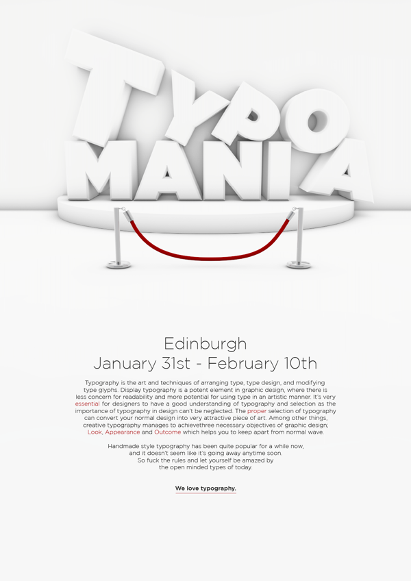 Remarkable Big Typography Design 28