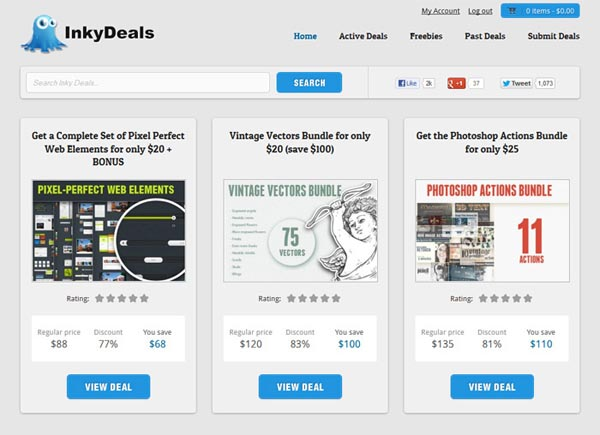 Inkydeals-redesign-homepage