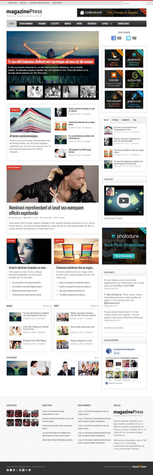 Top Premium News and Magazine Responsive WordPress Themes - 2