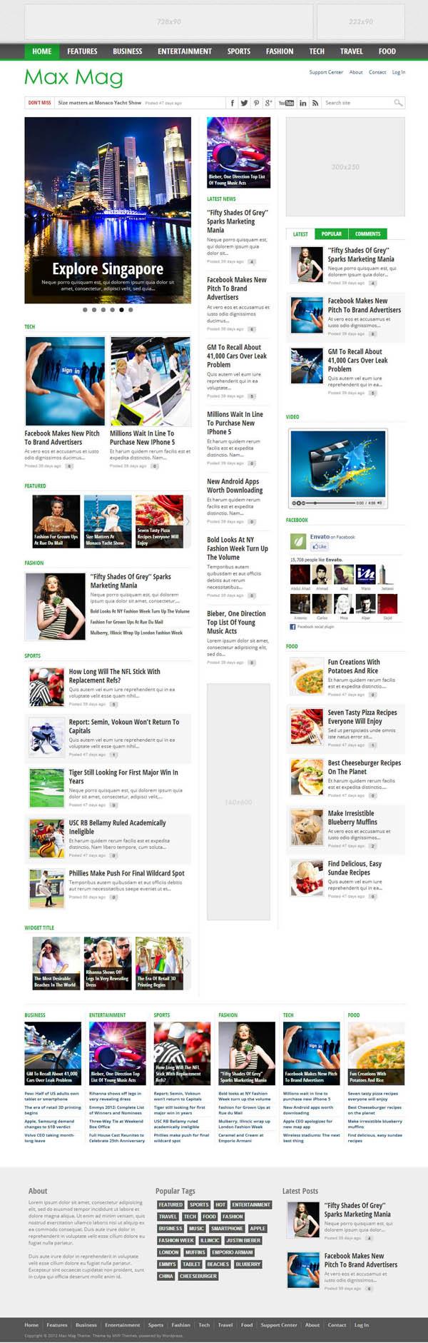 Top Premium News and Magazine Responsive WordPress Themes - 4