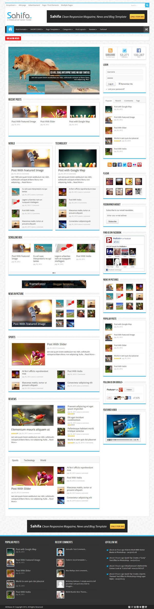 Top Premium News and Magazine Responsive WordPress Themes - 6