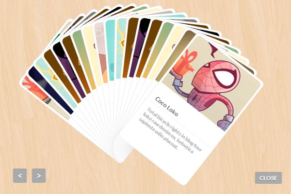Baraja jQuery Plugin Displaying Items Like Playing Cards