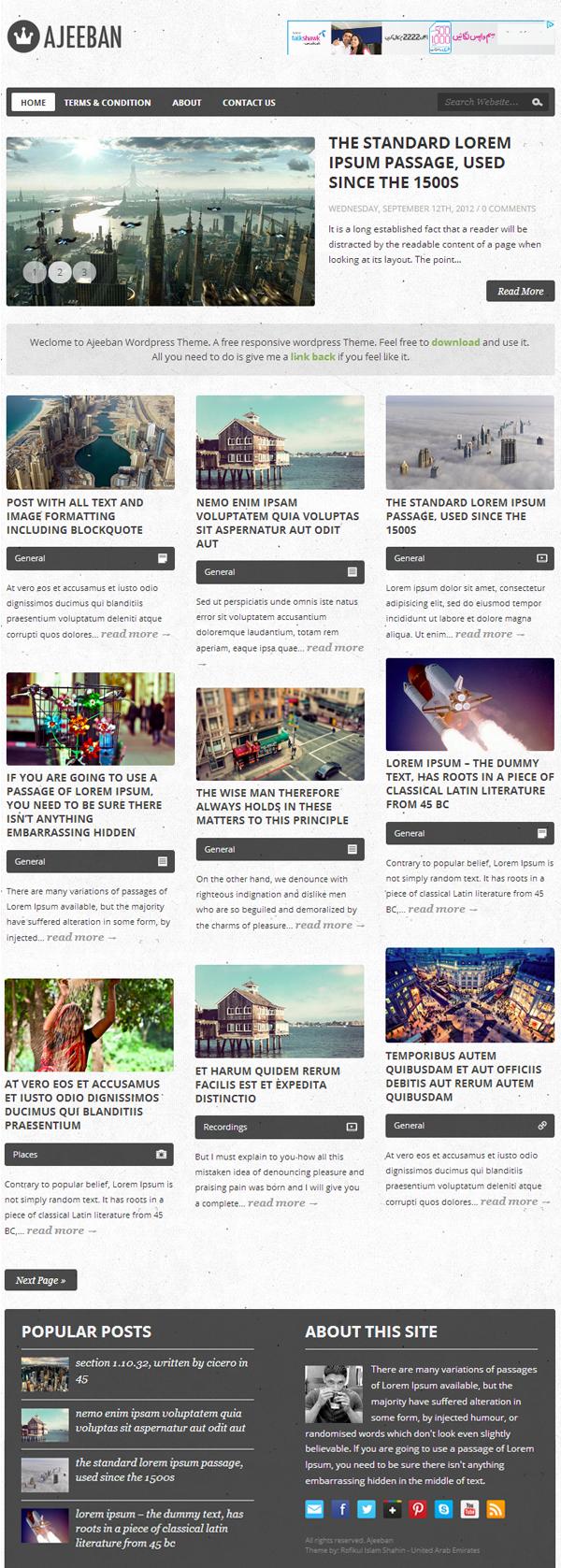 Ajeeban Responsive WordPress Themes - 3