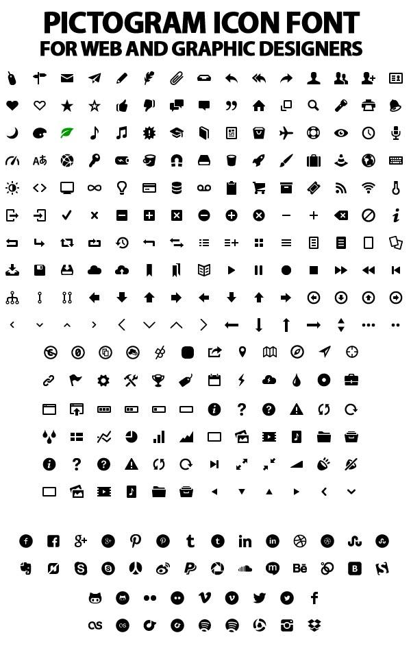pictogram icon font