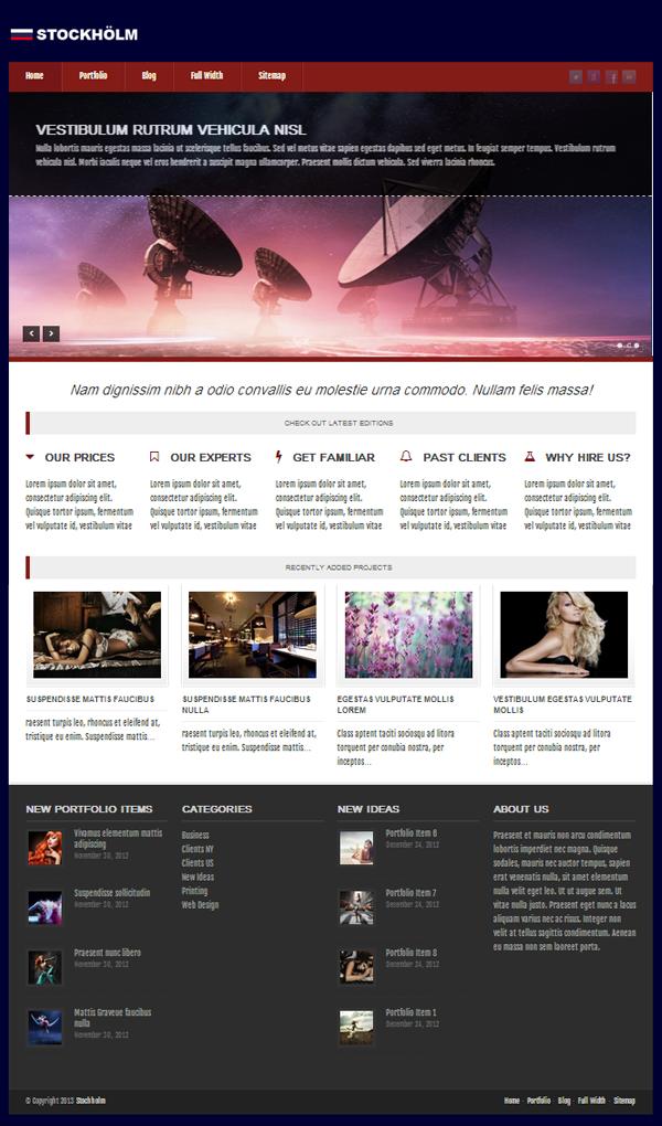 Stockholm Responsive WordPress Themes - 6