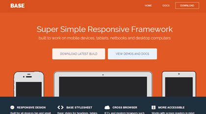 BASE: Super Simple Responsive Framework