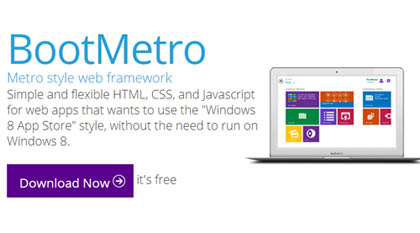 BootMetro:  Simple and flexible For Metro Style Websites