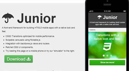 Junior: HTML5 front-End Framework