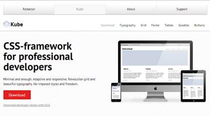 Kube Framework: Minimal Responsive CSS Framework