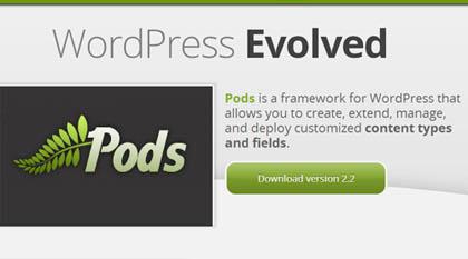 Pods: Flexible Framework for WordPress