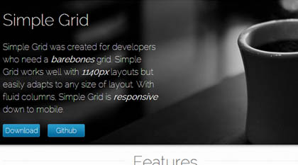 Simple Grid: CSS Grid System To Build Responsive Layouts