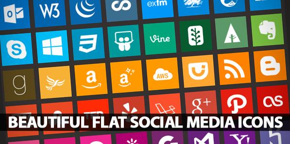 90+ Beautiful Flat Icons of Social Media