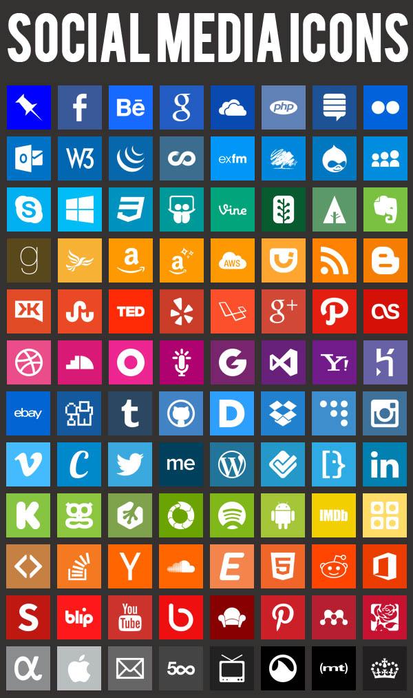 Flat icons - Free Social media Icons