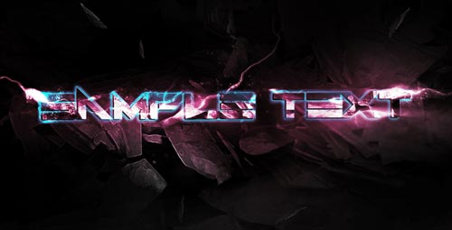 Design an Awesome Electrified Metal Scrap Text Effect in Photoshop