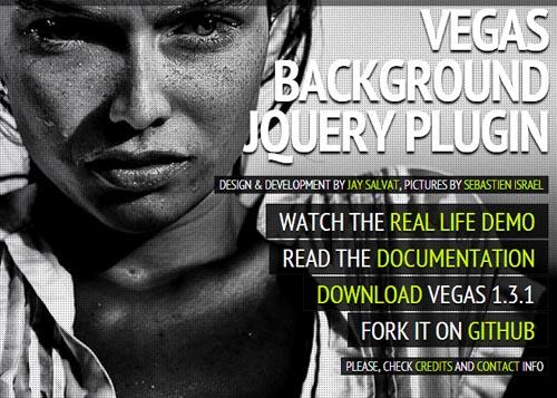 Vegas: Fullscreen Background Slideshows jQuery Plugin