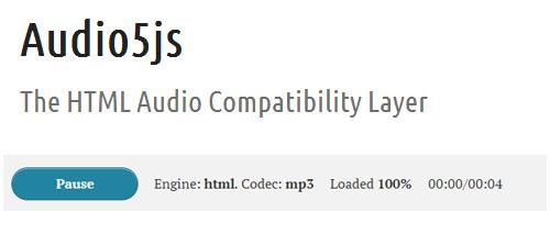 Audio5js: Cross-Browser HTML5 Audio