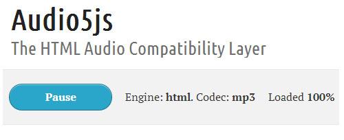 Audio5js: HTML5 Audio Library