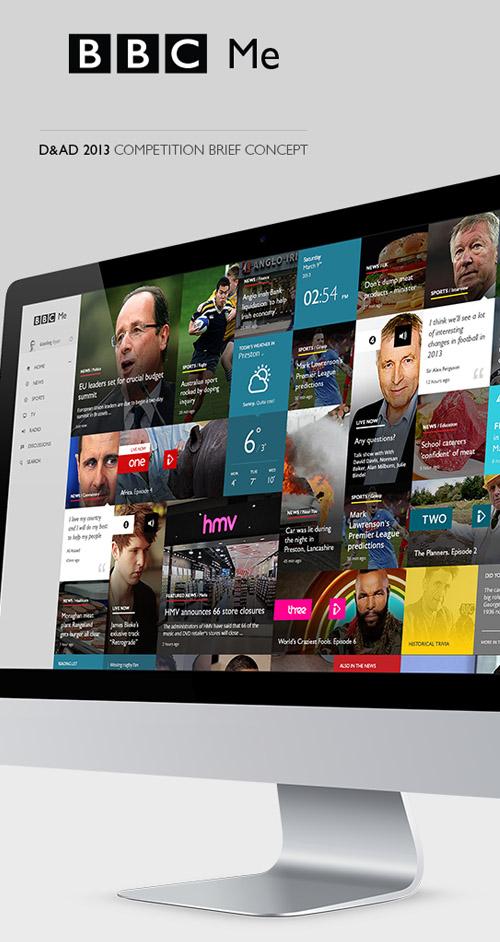 BBC me Interactive Web Design UIUX Concept