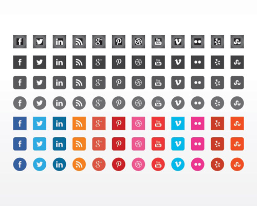 Flat Icons and Web Elements for UI Design-22