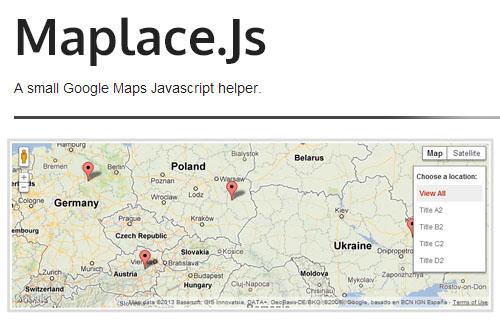 Maplaec.js: Google Maps Javascript Helper