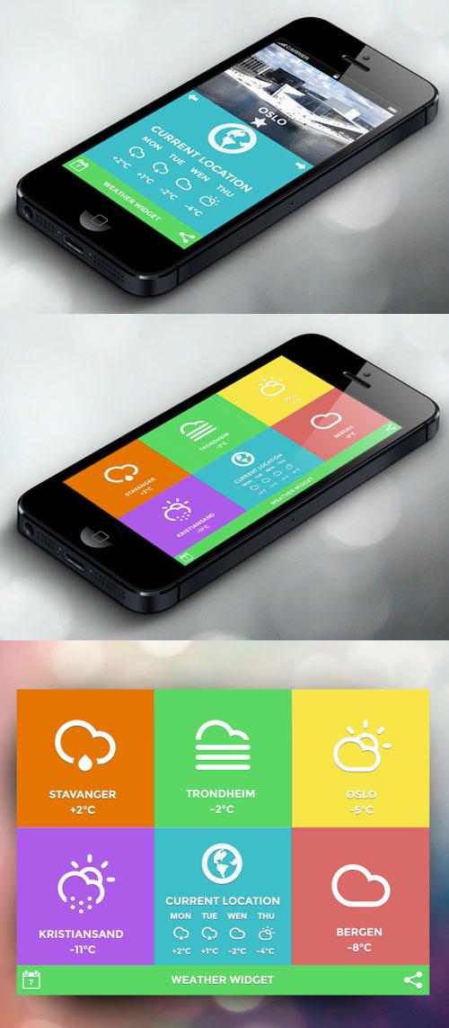 Weather App UI-UX Design Concept