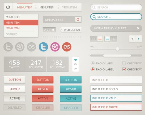 Free Psd UI Kits For Web and Mobile-26