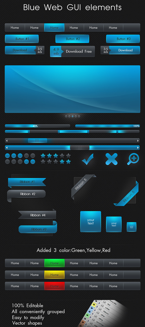 Free Psd UI Kits For Web and Mobile-3