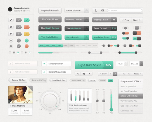 Free Psd UI Kits For Web and Mobile-30