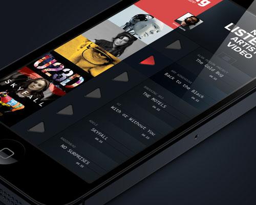 iPhone Music App Concept UI-UX Design
