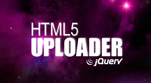 jQuery HTML5 Uploader: Lightweight jQuery Plguin