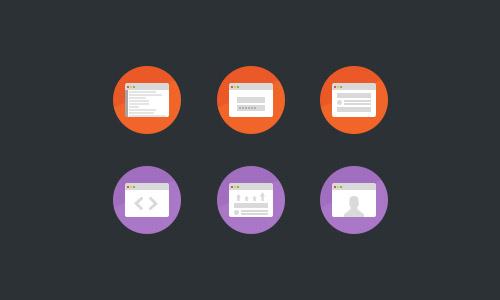 Development Flat Icons